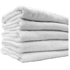 2 DOZEN WHITE RINGSPUN SOFT 16X27 3# HAND TOWELS SALON MOTEL FITNESS SPA HOTEL