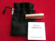 More details for  1971 new ½p half pence 50 coins bank roll sealed uncirculated unc with coa