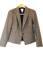 Levis Womens Brown Gold Freckles Fully Lined Wool Blend Blazer Jacket Size M