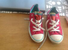girls Converse all star trainers size 1