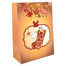 1x Pequeño de Lujo Regalo Navidad Mochila -decorative con Brillo Bolsa de Papel