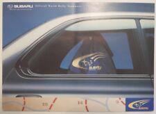 SUBARU OFFICIAL WORLD RALLY TEAMWEAR orig 1999 UK Mkt Sales Brochure