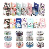 Premium Washi Tape 15mmX7m Roll Decorative Sticky Paper Masking Tape Adhesive