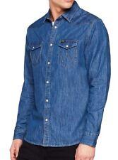 df6629b915 Mens Wrangler Classic Denim Western Shirt Mid Indigo Size M