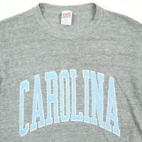 Vtg 90s Paper Thin UNC Carolina Tarheels T-Shirt MEDIUM Rayon Tri-Blend USA Made