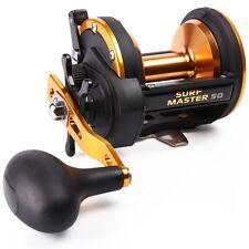 Drag Fishing Reels Right Hand High Speed Gears Anti-seawater Trolling Reels