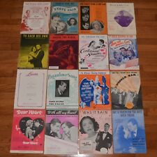 Lot Of 16 Pieces Sheet Music Movies Cary Grant Betty Grable Deanna Durbin etc