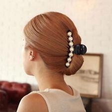 Pince Cheveux Griffe Épingle Barrette Perle Mariage Accessoires Femme Bijoux NF