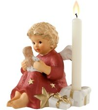 Hummel Angel with Doll Candle Holder Nib #828138 Bordeaux Red