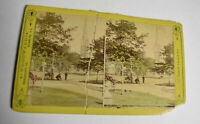 Cleveland, Ohio ~ Churches Color Stereoview Card, Woodward Antique