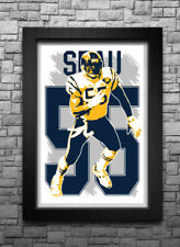 JUNIOR SEAU art print/poster SAN DIEGO CHARGERS FREE S&H! JERSEY