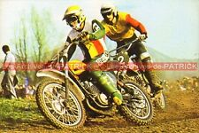 HARRY EVERTS et HANS MAISCH : SUZUKI Cross Carte Postale Moto Postkarte Postcard