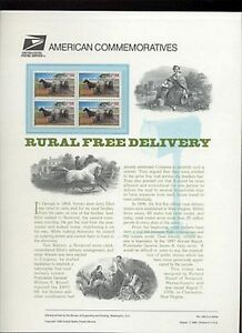 #3090 32c Rural Mail Delivery USPS #495 Commemorative Stamp Panel