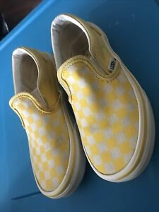 Girls Off The Wall Vans Yellow Checkered Size 13