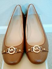 Size 7 M Michael Kors Hampton Ballet Shoes / Luggage Brown Moccasin Loafer Flats