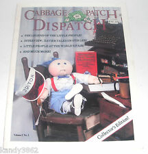 Cabbage Patch Dispatch Magazine Collector's Edition Volume 1 No 1  Summer 1982
