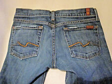 """7 for all mankind Blue Jeans W 30"""" x L 28.5"""" Bootcut Destressed"""
