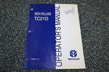 New Holland Tc21d Tractor Operators Manual 698 Free Shipping