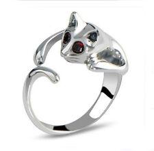 Chic Fashion Women Small Silver Full Rhinestones Crystal Ring Jewelry Gift New