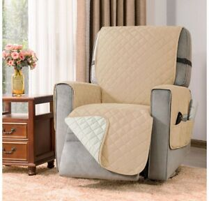 """NEW DyFun Recliner Chair Cover Reversible Recliner Cover Slipcover Width to 28"""""""