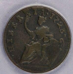 1723 1/2P Wood's Hibernia Coinage ANACS VG10