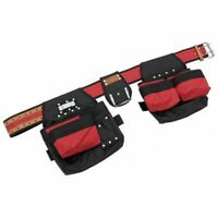 16 Pockets Tool Belt Double Pouch Nail Hammer Tape Measure Loops Strong Polyster