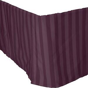 Elegant Comfort Luxury 1500 Thread Count Wrinkle Resistant Bed Skirt Queen Purpl