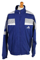 Vintage Adidas Three Stripes Long Sleeve Tracksuit Top Unisex XL Blue - SW1981
