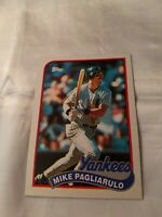 1989 Topps New York Yankees Baseball Card #211 Mike Pagliarulo