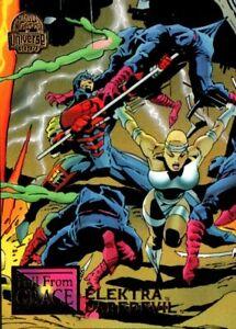 1994 Fleer MARVEL UNIVERSE Fall From Grace #71 Daredevil Elektra