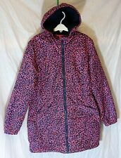 Girls Pineapple Blue Pink Abstract Pattern Fleece Lined Warm Coat Age 13 Years