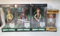 The Walking Dead Vinyl Idolz Figure Set Rick Daryl Michonne & RV Walker Wobbler