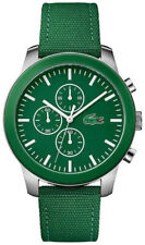 Lacoste 12.12 Green Dial Green Leather Strap Mens Chronograph Watch 2010946