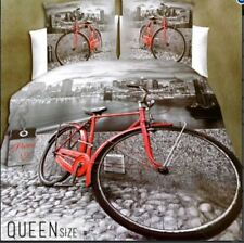 Celebrity Collection Queen Size 3D Bedding Set of 3 - Bicycle Design