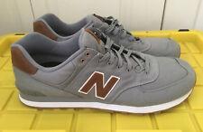 New Balance 574 Canvas Classics Shoes Grey Brown ML574TXC Men's Size 18 Wide 2E