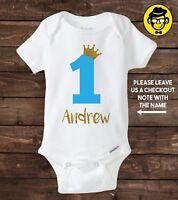 One Year Old Custom Birthday Shirt Boy 1st First