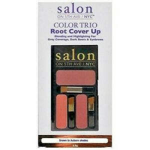 Salon On 5th Ave NYC Color Trio Root Cover Up 3 Shade Palette Brown-Auburn Brush