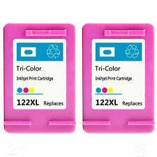 2PK for HP 122XL Color Ink Cartridge CH564HE Show Accurate Ink Deskjet 1050 2000