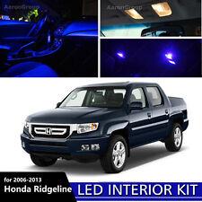 17PCS Blue Interior LED Light For 2006-2013 Honda Ridgeline White for License
