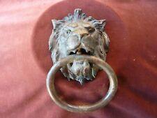 ancien et important heurtoir tete de lion,bronze,1,8kg