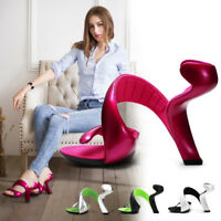 Women Hot Fashion Open Toe Low Top Special  Bottomless Heels Wedding Sandals #