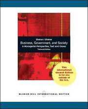 Business, Government and Society: A Managerial Perspective by George A. Steiner,