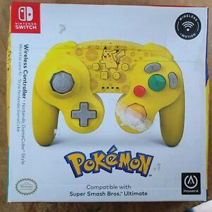 PowerA Pokemon Wireless GameCube Style Controller for Nintendo Switch - Pikachu