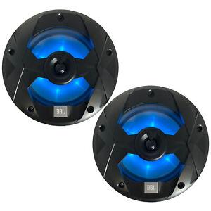 "JBL Club Marine 8"" 2-Way 450 Watt Black Multi-Element RGB LED Speakers (Pair)"