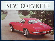 Prospectus brochure 1963 Chevrolet Chevy Corvette stingray (usa) * rouge Cover