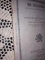 """BE SEATED,"" MARCELLINE HEMINGWAY SANFORD (ERNEST HEMINGWAY'S WIFE) , 1939"