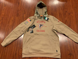 Nike Men's Atlanta Falcons Salute To Service Hoodie Sweatshirt Extra Large XL