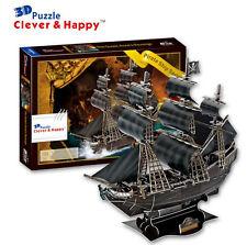 Black Pearl Pirates Ship Boat Jack Sparrow Souvenir Paper 3D Puzzle Model