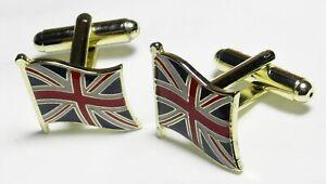 Union Jack Flag Cuff Links Great Britain GB UK Cufflinks