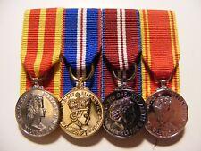 Queens Fire, Golden,Diamond Jubilee, LSGC Miniature Medal Court Mounted QFSM